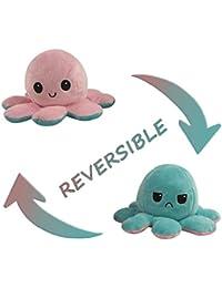 Flip Plüsch Oktopus Spielzeug Puppe Doppelseitiger Flip Reversibel Sanft Tintenfisch Kinder Süß Tier Cartoon Octopus Spielzeuge 1 Stück Geschenk Kinderspielzeug