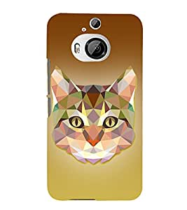 Meow Cat 3D Graphics 3D Hard Polycarbonate Designer Back Case Cover for HTC One M9+ :: HTC One M9 Plus