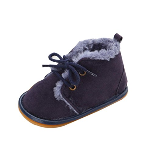 Saingace Krabbelschuhe boots,0 ~ 18 Monate Baby-Kleinkind -Säuglings Schnee Stiefel Schuhe Gummisohle Prewalker Krippe Schuhe Dunkelblau