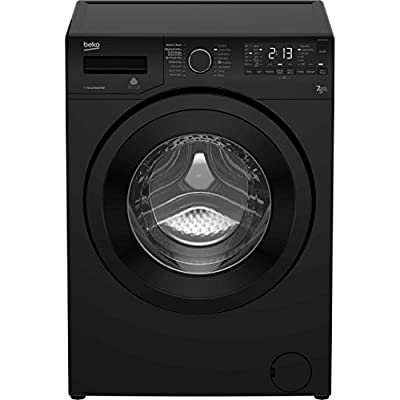 Beko WDR7543121B Freestanding A Rated Washer Dryer - Black by AO
