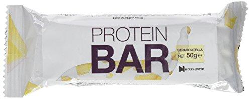Neosupps Protein Bar Riegel Stracciatella | Leckerer 50 % Eiweißriegel | Proteinreicher Snack für Zwischendurch | Süßigkeitenersatz | 50g Protein Riegel , Gewicht:50g
