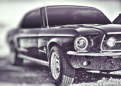 Retro Coche deportivo-coche Mustang-cuadro de impresión A4-Póster