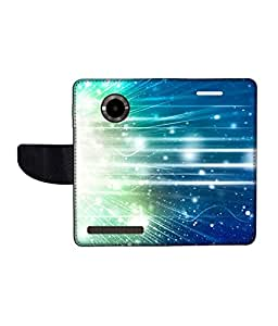 KolorEdge Printed Flip Cover For Micromax Yu YuPhoria Multicolor - (1478-50KeMLogo12020MmxYuPhoria)