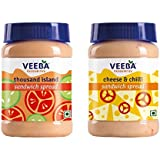 Veeba Sandwich Spreads Combo - Cheese n Chilli, 275g and Thousand Island Sandwich Spread, 280g - Pack of 2