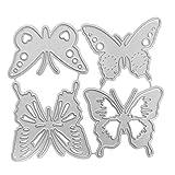 Brucelin Schmetterlingsausstecher aus Metall, Prägung für Fotoalbum, Handwerk und Karten
