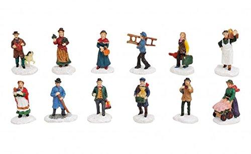 Figuren-Set 12 teilig Lichthaus Winterwelt H6 cm schönes Detail für ihre Miniaturwelt