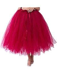 96567cc3b1 Amazon.es  falda color vino - Única   Mujer  Ropa