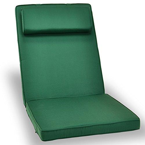 Nexos Divero Sitzauflage Stuhlkissen Sitzpolster für Gartenmöbel wie Hochlehner Gartenstuhl Campingstuhl Klappstuhl - bequem hochwertig robust - grün