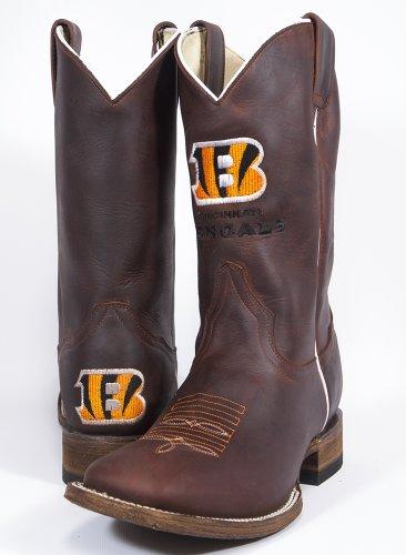 Cincinnati Bengals Herren Öl Tan quadratisch Fuß Western Stiefel, Braun, 12 ()