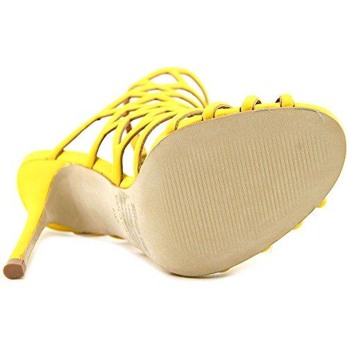 Steve Madden Slithur Damen Leder Sandale Yellow