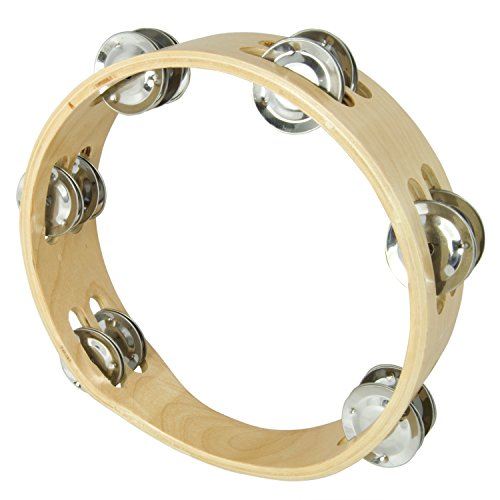 "Tiger 8"" Headless Double Row Tambourine - Wooden Tambourine"