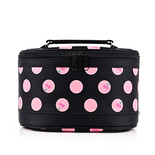 CLOTHES- Pacchetto di immagazzinaggio cosmetico bello di alta qualità impermeabile della borsa di caso del cilindro ( Colore : Verde ) Nero