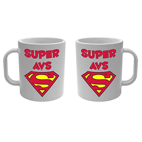 YONACREA - Mug Tasse - Super AVS - Rouge