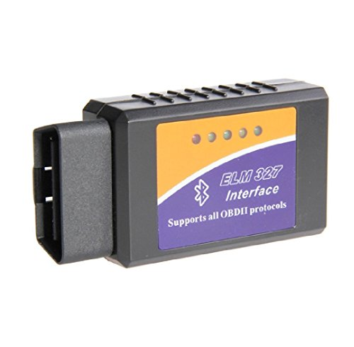 ELM327 Interface de diagnostic de voiture V 1.5 Bluetooth compatible Android OBD2 / OBD II - Fonctionne sur tous les véhicules conformes OBD II (+1996 aux États-Unis) et les véhicules EOBD (voitures essence +2001 et voitures diesel à partir de 2003/2004 en Europe)