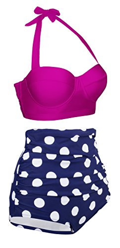 EasyMy Polka Two Piece Swimsuit Beachwear Bathing Suits -