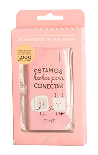 Mr. Wonderful WOA02942 - Batería externa de 4000 mAh