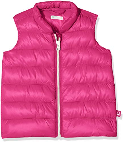 United Colors of Benetton Unisex Baby Weste Waistcoat, Rosa (Cyclamen 06c), 56