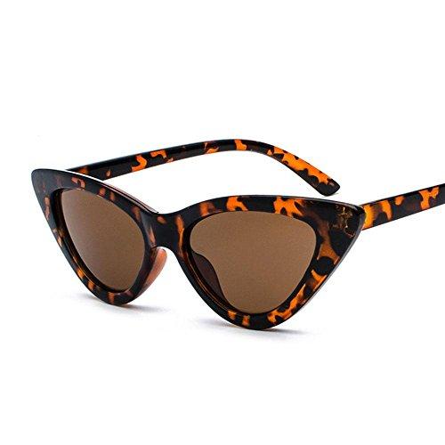 AOLVO Katzenauge Sonnenbrille, Sonnenbrille Retro, Paare Sonnenbrille, Sonnenbrille Mode, Schwarz, Chataîgne, G