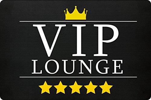 Preisvergleich Produktbild VIP Lounge Fußmatte In Schwarz - Schmutzfangmatte Für Dein Zuhause Aus Polypropylen Mit Rutschfester Unterseite - HOCHWERTIGE QUALITÄT - Maschinenwaschbar - Die Perfekte Türmatte Mit Coolem Style - Perfekte Geschenk Idee