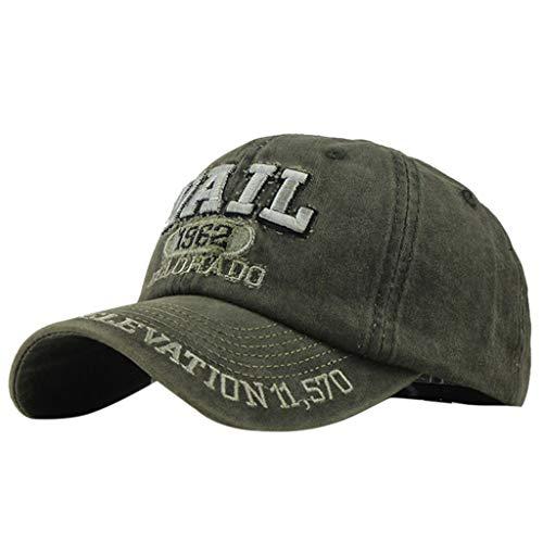 Herren Denim Bestickt (LOLIANNI Unisex Baumwolle Bestickt Denim Brief Hut Frauen Mann Casual Fashion Baseball Cap Wild Hat)