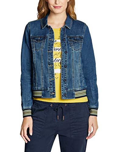 CECIL Damen 211018 Jeansjacke, Mehrfarbig (mid Blue wash 10283), XX-Large (Herstellergröße:XXL)