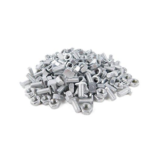 DANNYRIDIN 30x Hammerkopfschrauben (M6) mit Muttern aus Aluminium für Gewächshaus - Perfektes Gewächshaus Zubehör