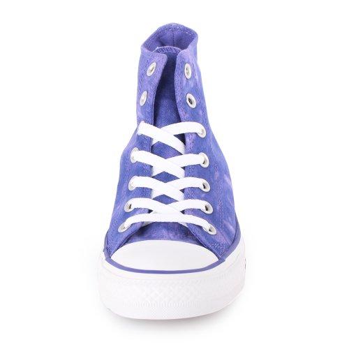Converse, Chuck Taylor All Star Tie Dye HI, Sneaker,Unisex - adulto Purple