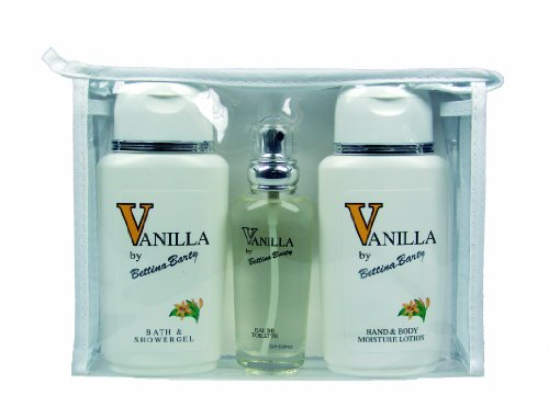 Hand Lotion Set (Bettina Barty Travel-Set Vanilla Hand und Body Lotion 150 ml + Vanilla Showergel 150 ml + Vanilla Eau de Toilette 50 ml)