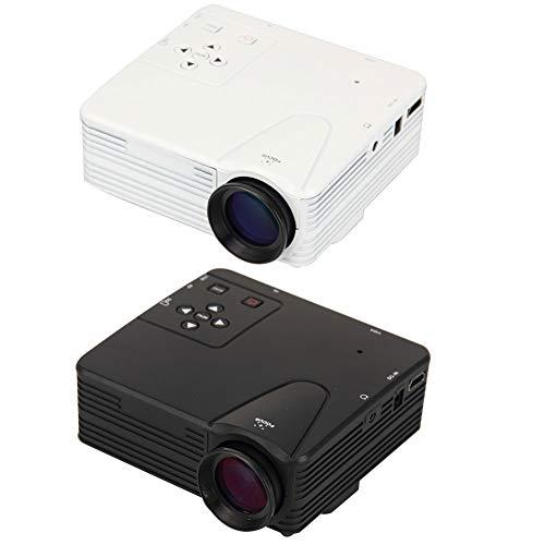 Sguan-wu HD 1080P LED-Projektor 400Lumens Multimedia-USB-TV-AV-HDMI-Schule-Heimkino - Weiß * EU-Stecker