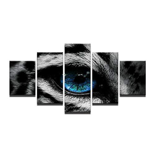 5 Stücke Leinwand Gemälde Tier Tigerauge Bilder Wohnkultur Poster DruckenWandkunstPoster DekorativeSchlafzimmer Decoratio 40X60X2 40X80X2 40X100 Cm