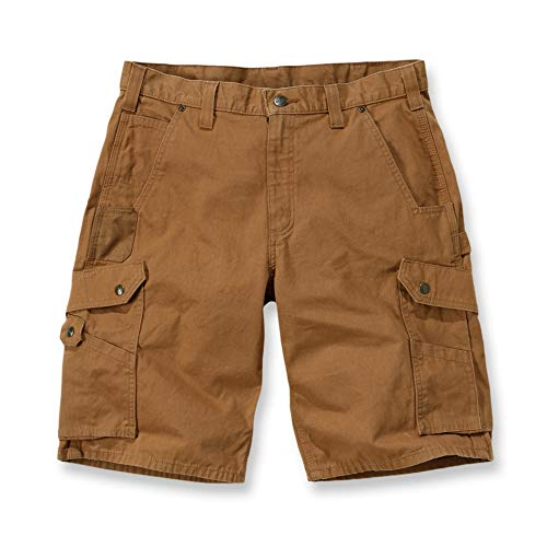 Carhartt B357 Ripstop Work Short 33 Carhartt Brown -