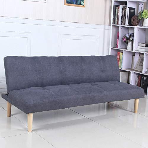 Sofá Cama 3 plazas Clic Clac Joy Gris Oscuro tapizado con Tela...