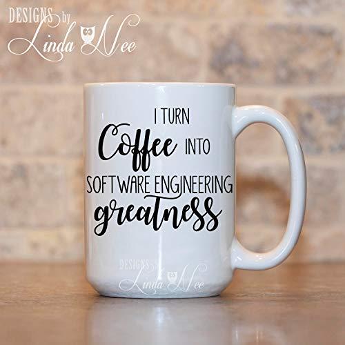 Ich verwandle Kaffee in Software Engineering Gr??e Becher Ingenieur Becher Geschenk f¨¹r Ingenieur Funny Engineer Coffee Mug Civil Electrical MSA139
