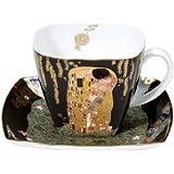 Goebel 66884214 - Taza para café, diseño de El beso de Gustav Klimt