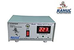 Rahul 6515 c Digital 500 VA 140-280 Volt LCD/LED TV 42 + /Music System/Refrigerator 90 Ltr to 180 Ltr Automatic Voltage Stabilizer