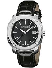932d8c61d90a Wenger Reloj Analogico para Hombre de Cuarzo con Correa en Cuero 01.1141.110