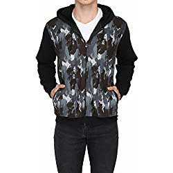 High Hill's Men's Cotton Hooded Sweatshirts_GRY150_S