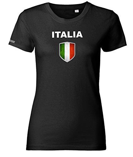WM 2018 - Italia Wappen - Italien - Schwarz - WOMEN T-SHIRT by Jayess Gr. M
