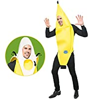 Spooktacular Creations Appealing Banana Costume Adult Deluxe Set for Halloween Dress Up Party and Roleplay Cosplay (Standard)