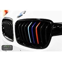 Ultimate Car 9x BMW etiqueta engomada capucha racha pegatinas de riñón M Deporte 3d Placa De Metal De Metal Emblema Etiqueta Logo Calcomanía Para Pegatina de 3 Bmw Serie M3, M4, M5, M6, e36, e46, f10, e46, e90, e39, e60 e46 Tuning