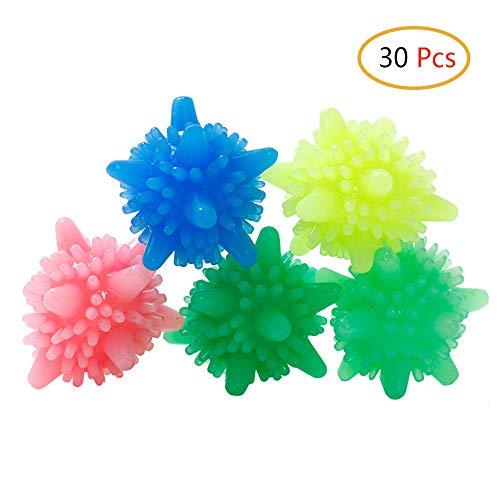 Schneespitze 30 Stück Eco Wäscherei Ball Flauschigere Wäsche,Wiederverwendbare Laundry Ball,Washing Ball Waschen Ball Kunststoff,Bunte -