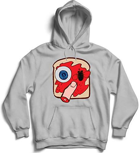Halloween Creepy Sandwich Eye Finger_007326 Hooded Pullover Unisex SM Black Hoodie