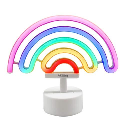 AIZESI Arc En Ciel lumiere LED Neon Rainbow Lampe Arc En Ciel Lampe Decoration Veilleuse Enfant Luminaire Chambre Applique Murale Interieur