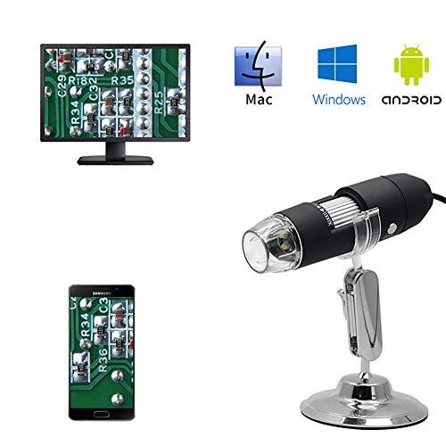 Qys interfaccia tre-in-uno per microscopio digitale per sistemi android, mac e windows, mini-fotocamera con lente di ingrandimento elettronica hd con staffa universale