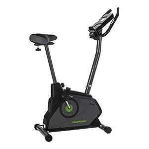 Tunturi Cardio Fit E30 Ergometer heimtrainer fahrrad / Fitnessfahrrad / Fahrradergometer / Hometrainer fahrrad trainer mit Handpulssensoren -Tablethalterung – Magnetbremssystem – LCD-Bildschirmanzeig