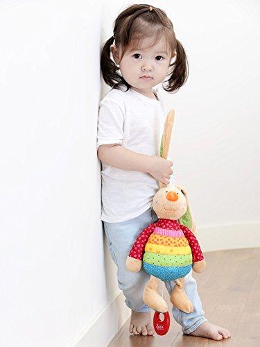 sigikid, Mädchen, Spieluhr, Stofftier Hase Rainbow Rabbit, Rot/Mehrfarbig, 40577 - 2
