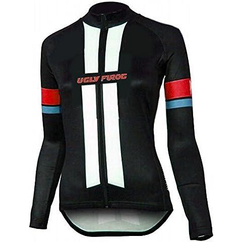 Uglyfrog UFYUE09 Nuovo Modo Di Sport Esterni Di Panno Morbido Termico Invernale Donna Manica Lunga Ciclismo Magliette Triathlon Abbigliamento