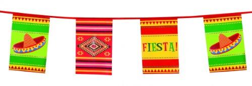 Generique NEU Flaggenkette Fiesta, 10m, bunt