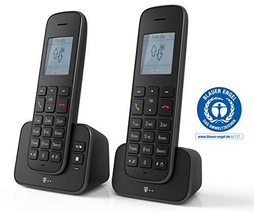 Telekom Sinus A207 DUO Schnurlostelefon (mit Anrufbeantworter) schwarz
