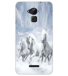 PrintDhaba HORSE PATTERN D-6242 Back Case Cover for COOLPAD NOTE 3 LITE (Multi-Coloured)